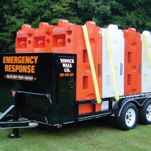 Trinity Highway Rentals Yodock® water filled barricades emergency response trailer