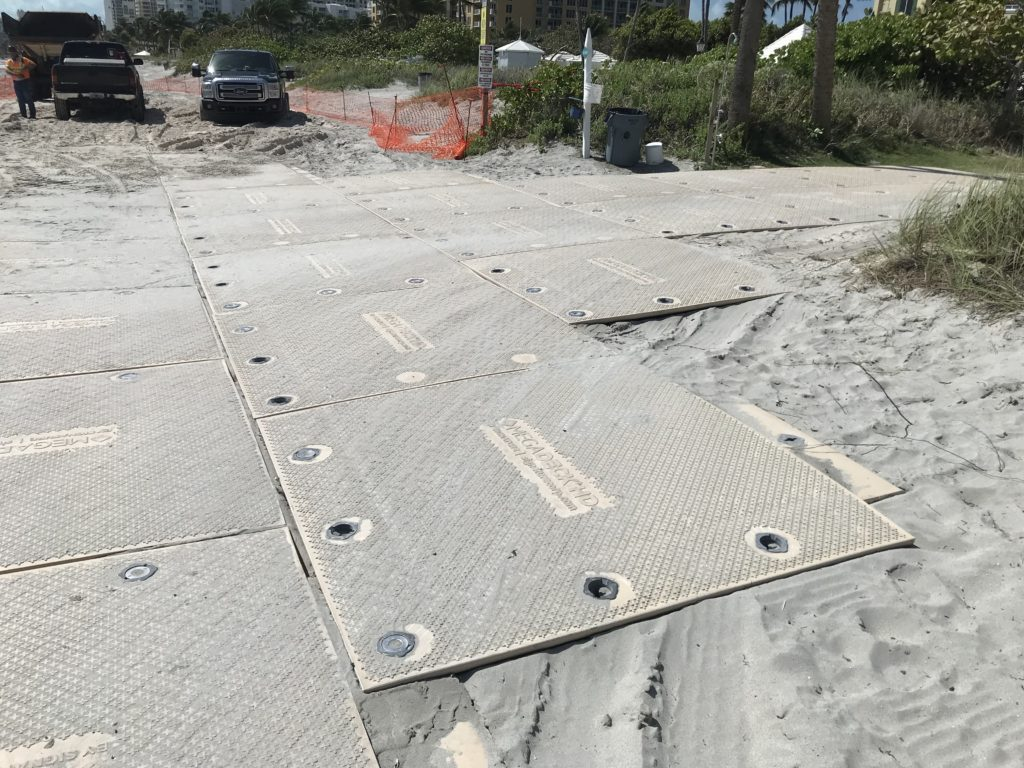 Trinity Highway Rentals Composite ground protection access mats